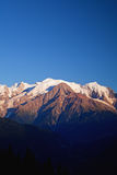 Mont Blanc sunset Royalty Free Stock Photo