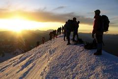 Mont Blanc supera Fotografia Stock