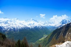 Mont Blanc from Swiss part Stock Image