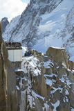 Mont-Blanc terrace at the mountain top station of the Aiguille du Midi in French Apls Stock Photo