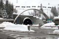 Mont Blanc Tunnel Entrance, Italy Royalty Free Stock Images