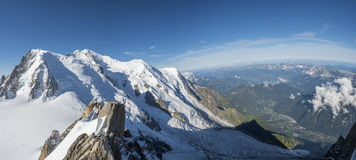 Mont Blanc and valley Royalty Free Stock Photo