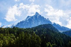Mont Blanc van Chamonix royalty-vrije stock fotografie