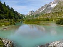 Mont Blanc - Veny dal Arkivfoton