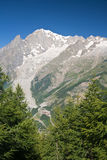 Mont Blanc - vertical composition Royalty Free Stock Images