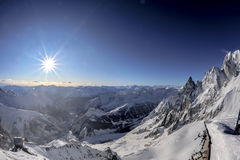 Mont blanc view landscape Royalty Free Stock Images