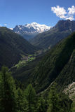 Mont Blanc view from Switzerland Royalty Free Stock Photos