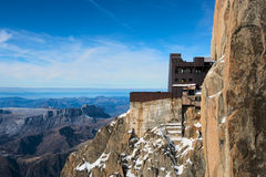 Mont Blanc Viewing Point Royalty Free Stock Photos