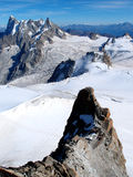 Mont Blanc Viewing Point Royalty Free Stock Photography