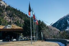 Mont Blanc-vlag Stock Afbeelding
