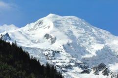 Mont Blanc von Chamonix Stockfotografie