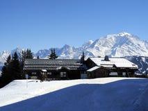 Mont Blanc von Megeve/le Jaillet Lizenzfreies Stockfoto