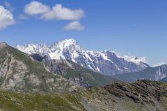 Mont Blanc von Muret Stockfotos