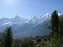 Mont Blanc w Les Houches, Francja Zdjęcia Royalty Free