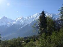 Mont Blanc w Les Houches, Francja Zdjęcie Royalty Free
