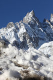 Mont Blanc in winter Royalty Free Stock Photo