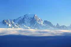 Mont Blanc, Winter landscape in the ski resort of La Plagne, France Royalty Free Stock Photos
