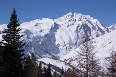 Mont Blanc  winter view Stock Photos