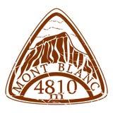 Mont Blanc-zegel vector illustratie
