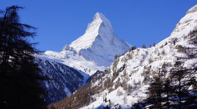 Mont Blanc, Zermatt, Switzerland Stock Photography