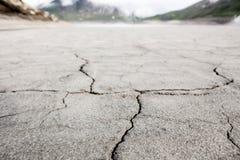 Mont Cenis jezioro pusty obrazy stock