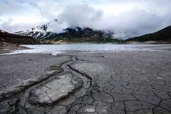 Mont Cenis lake empty Stock Photo