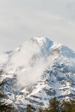 Mont Chaberton with ruined artillery towers on the summit Royalty Free Stock Photo