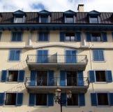 mont chamonix Франции blanc зодчества урбанское стоковое изображение rf