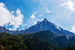 mont chamonix blanc Стоковая Фотография RF