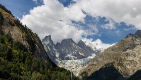 mont chamonix blanc Стоковые Изображения