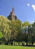 Mont d'Aiguilhe στο Le Puy EN Velay Στοκ φωτογραφία με δικαίωμα ελεύθερης χρήσης