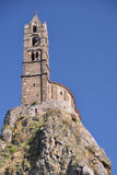 Mont d'Aiguilhe στο Le Puy EN Velay Στοκ Φωτογραφίες