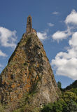Mont d'Aiguilhe at Le Puy en Velay Royalty Free Stock Images