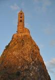 Mont d'Aiguilhe at Le Puy en Velay Royalty Free Stock Image