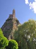 Mont d'Aiguilhe przy Le Puy En Velay Zdjęcie Royalty Free