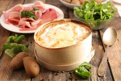 Mont d`or. French winter gastronomy stock photography