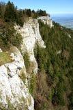 Mont De Baulmes High Cliff Switzerland Royaltyfria Foton