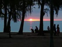 Mont de la opinión de la puesta del sol choisy Imágenes de archivo libres de regalías