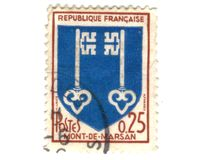 Mont de Marsan City Coat of Arms Postage Stamp Royalty Free Stock Photos