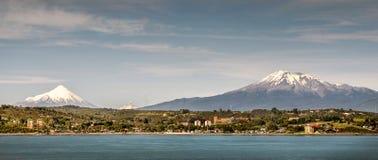 Mont de Puerto, vista amplio de la bahía y cielo fotos de archivo