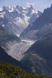 mont del massiccio del ghiacciaio del blanc immagine stock libera da diritti