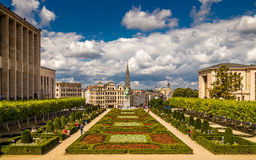Mont des Arts, Βρυξέλλες, Βέλγιο Στοκ εικόνα με δικαίωμα ελεύθερης χρήσης