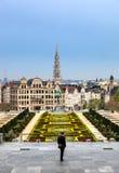 Mont des Arts, Βρυξέλλες, Βέλγιο Στοκ Εικόνες