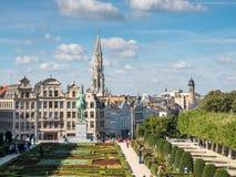 Mont des Arts είναι ορόσημο στις Βρυξέλλες Στοκ φωτογραφία με δικαίωμα ελεύθερης χρήσης