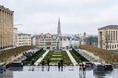 Mont des Arts στις Βρυξέλλες Στοκ εικόνα με δικαίωμα ελεύθερης χρήσης