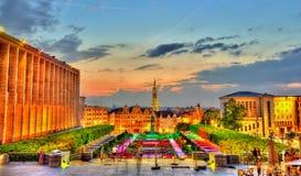 Mont des Arts στις Βρυξέλλες Στοκ Εικόνες