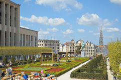 Mont des Arts on annual Day of Iris stock photography
