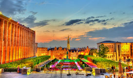 Mont des Arts in Brussels Stock Photo