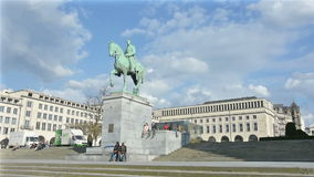 Mont des Arts in Brussels. stock video