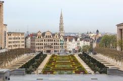Mont Des Arts Garden Βρυξέλλες Βέλγιο Στοκ Εικόνες